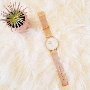 Geneva Quartz Rose Gold Wrist Watch